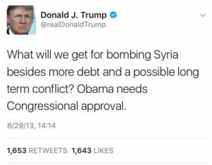 trump syria tweet